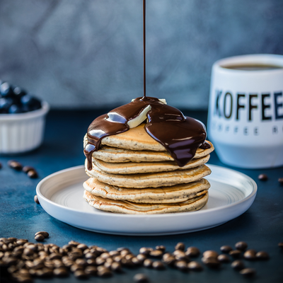 Espresso Pancakes with Mocha Syrup Recipe