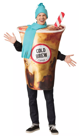 Target Adult Cold Brew Coffee Halloween Costume One Size