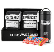 2 x 12oz Coffee With Travel Mug and Chocolate Bar Gift Box