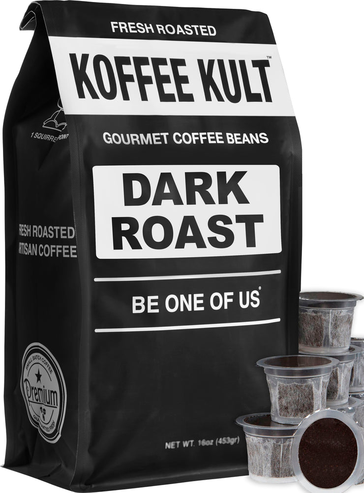 Dark Roast Coffee Single Serve Capsules for Keurig K-Cup Brewers
