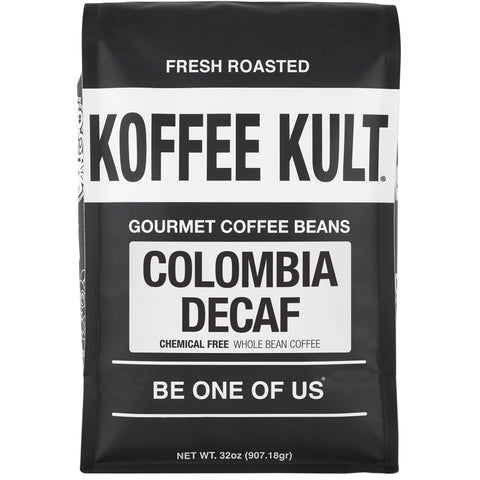 Colombian Decaf - Chemical Free water process decaf coffee 32oz whole bean front