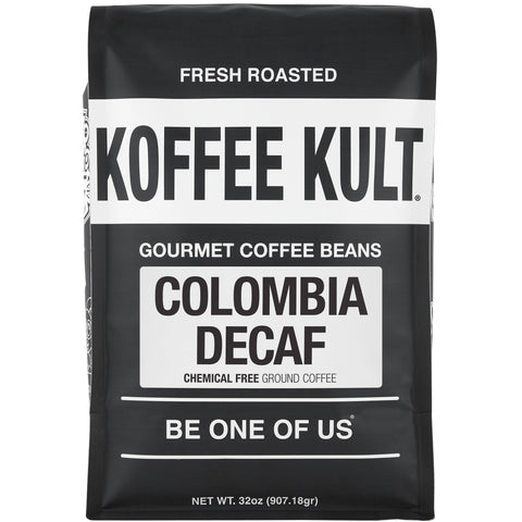 Colombian Decaf - Chemical Free water process decaf coffee 32oz ground front