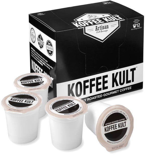 Original Koffee Kult Dark Roast coffee in single serve cups