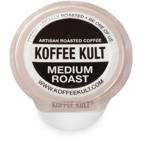 Original Koffee Kult Medium Roast coffee in single serve cups