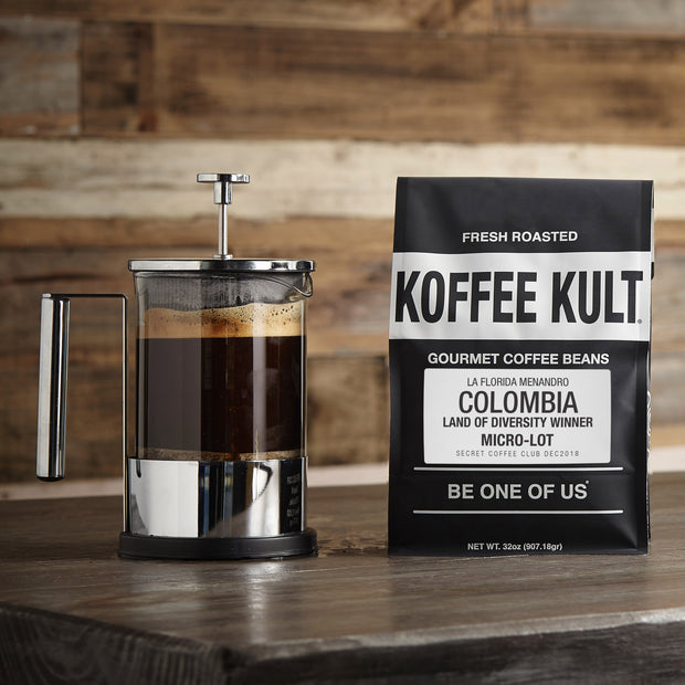 coffee colombia land of divirsity winner micro-lot roast exclusive by koffee kult