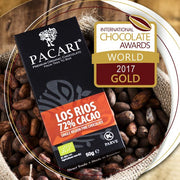 Pacari Los Rios 72% Organic Chocolate Bar