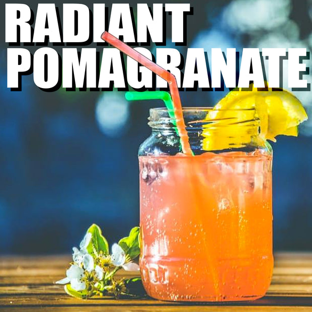 Radiant Pomegranate Black Ice Tea For Cold Brew