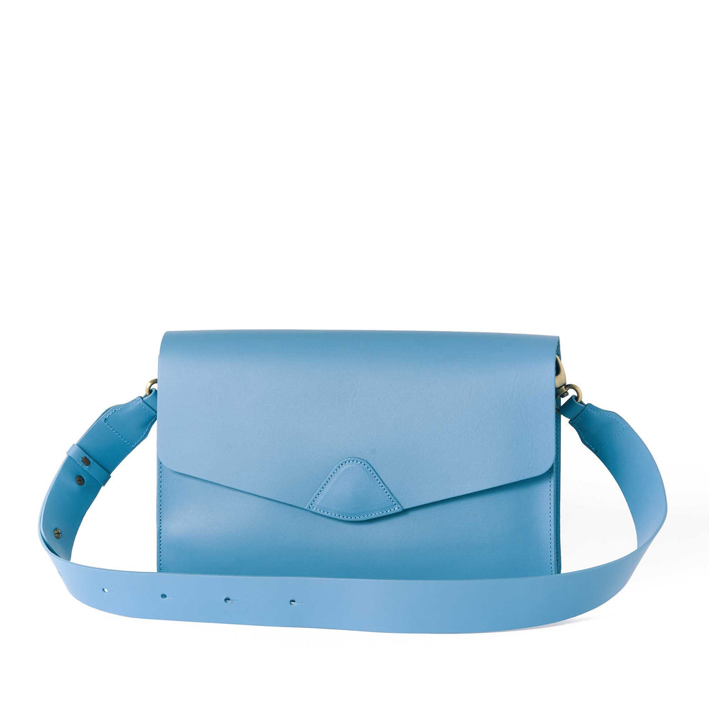Mox 2.0 - Sky - VereVerto - Convertible Leather Handbag Purse