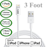 1 Meter / 3 Foot - Apple Certified Lightning USB Charger Cable -  USB Cables Cell Phone DIY
