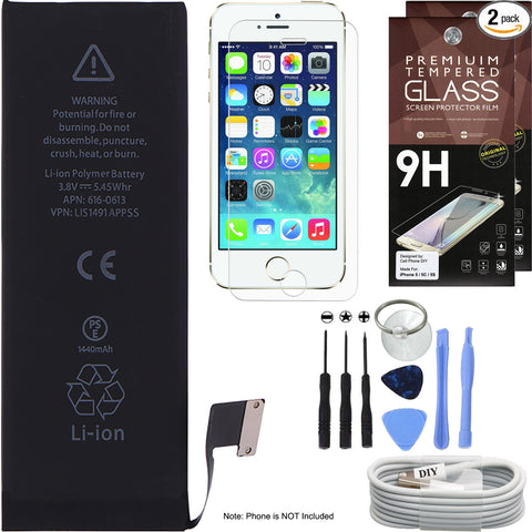 iPhone 5 Battery Replacement Kit -  Battery Cell Phone DIY