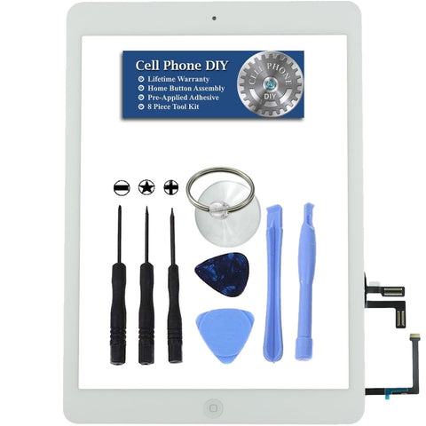 White iPad Air Replacement Digitizer Screen Kit -   Cell Phone DIY