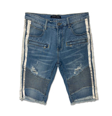 Bolt Biker Shorts - Denim Exchange