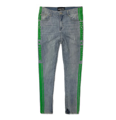 Trademark Denim Blue and Green Jeans - Denim Exchange