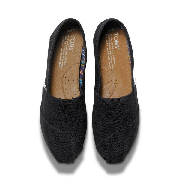 TOMS - Womens Black Canvas Classics - Denim Exchange - 3