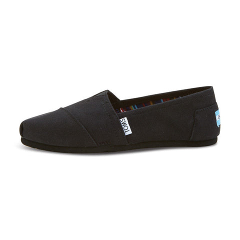 Womens Black On Black Canvas Classics