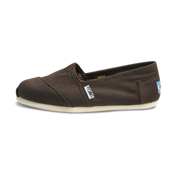 TOMS - Womens Chocolate Canvas Classics - Denim Exchange - 1