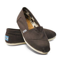TOMS - Womens Chocolate Canvas Classics - Denim Exchange - 2