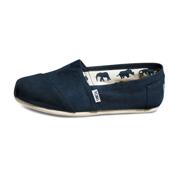 TOMS - Womens Navy Canvas Classics - Denim Exchange - 1