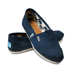 TOMS - Womens Navy Canvas Classics - Denim Exchange - 2