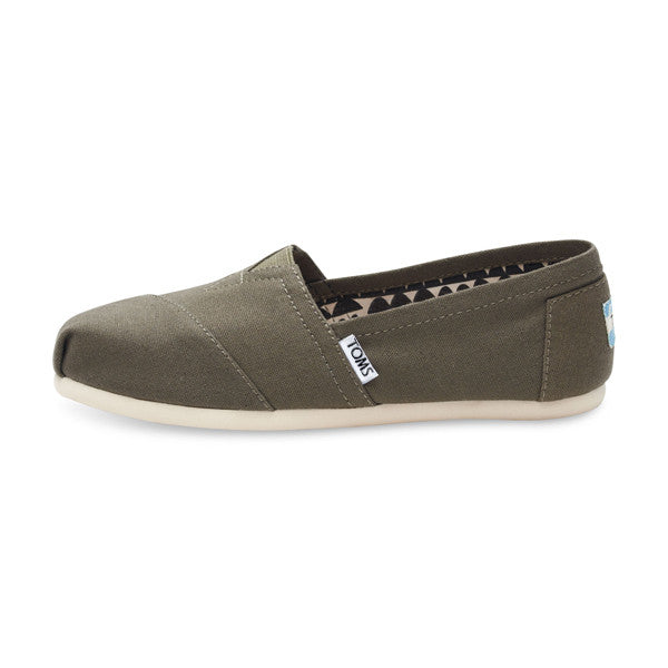 TOMS - Womens Olive Canvas Classics - Denim Exchange - 1