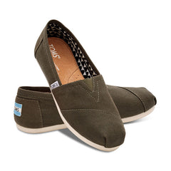 TOMS - Womens Olive Canvas Classics - Denim Exchange - 2
