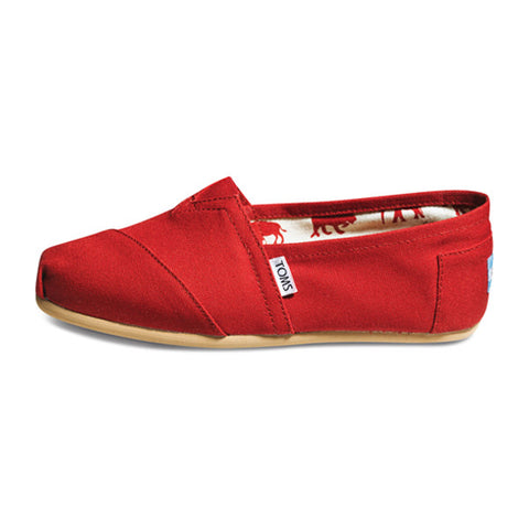 Womens Red Canvas Classics