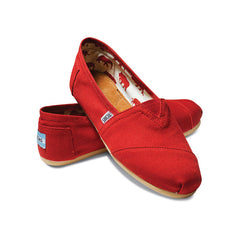 TOMS - Womens Red Canvas Classics - Denim Exchange - 2