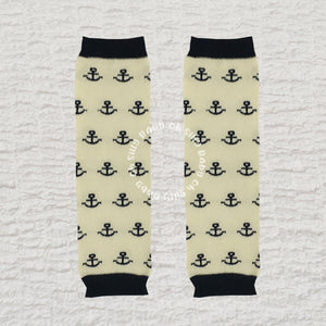 Anchors Away Baby Leg Warmers