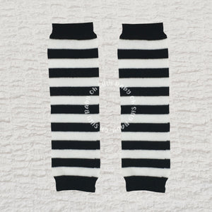 Black and White Stripe Baby Leg Warmers