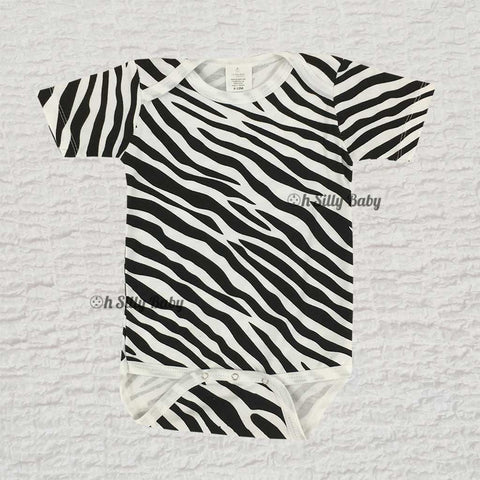 Black and White Zebra Print Onesie
