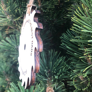 Carpenter Saw Blade Personalized Christmas Ornament