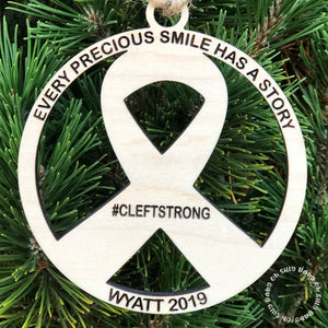 Cleftstrong Personalized Christmas Ornament
