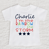 I'm The Rainbow After The Storm Boy Personalized Short Sleeve White Shirt