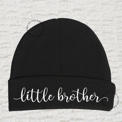 Little Brother Black Beanie Hats