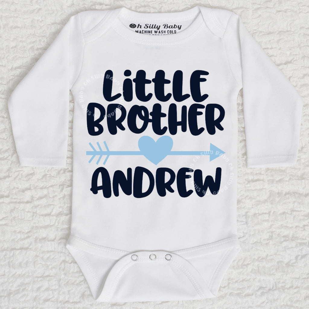 4ecfdbe41 Little Brother Personalized Bodysuit or Shirt Oh Silly Baby
