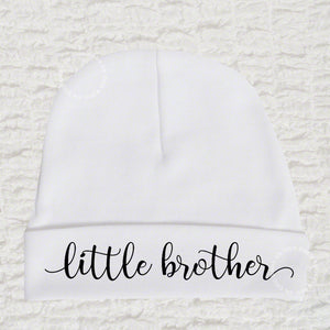 Little Brother White Beanie Hats