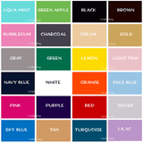 Vinyl Color Chart Oh Silly Baby