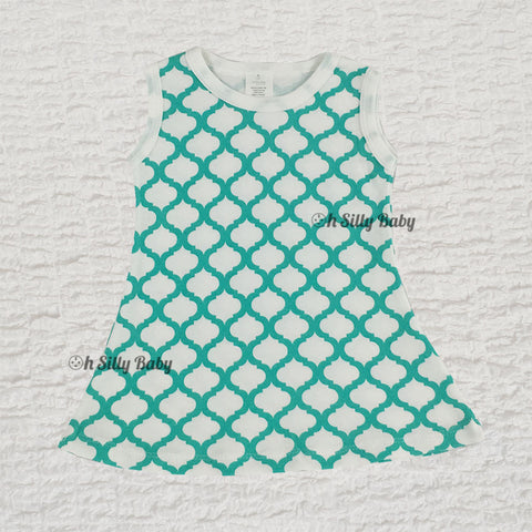 Quatrefoil Print Dress
