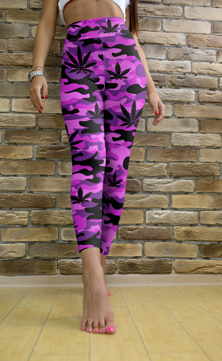 Purple and Pink Camo Leggings