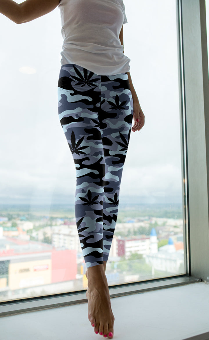Light Blue Camo Leggings