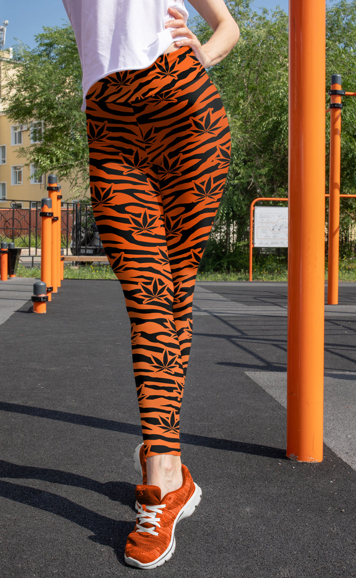 Orange Tiger Leggings