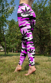 Pink and White Camo Leggings