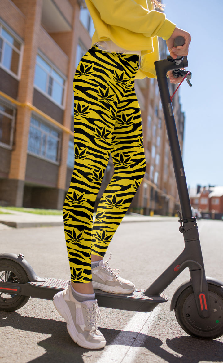Yellow Tiger Leggings