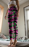 Pink and Green Camo Leggings