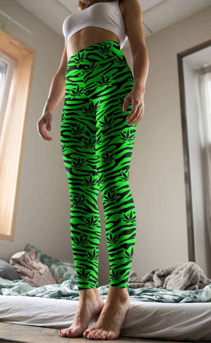 Green Tiger Leggings