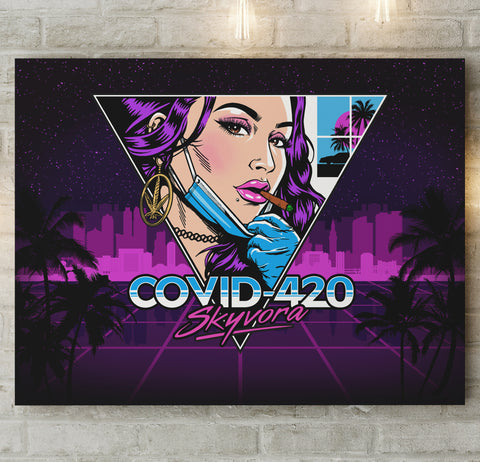 Covid-420 on Canvas