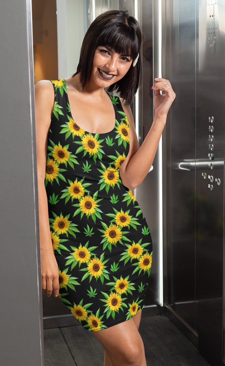 Sunflower Black Dress