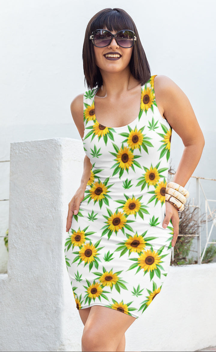 Sunflower White Dress