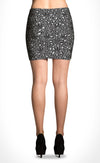 Grey Leopard Mini Skirt