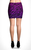 Purple Tiger Mini Skirt